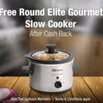 FREE Elite Gourmet 1.5-qt Slow Cooker after Cash Back