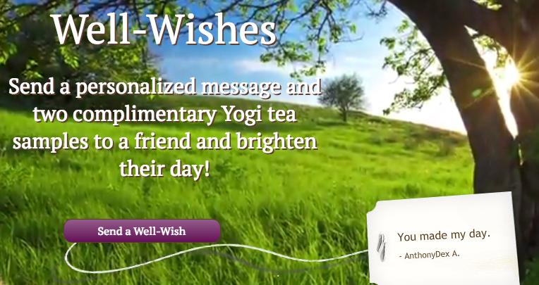 free yogi tea with a message