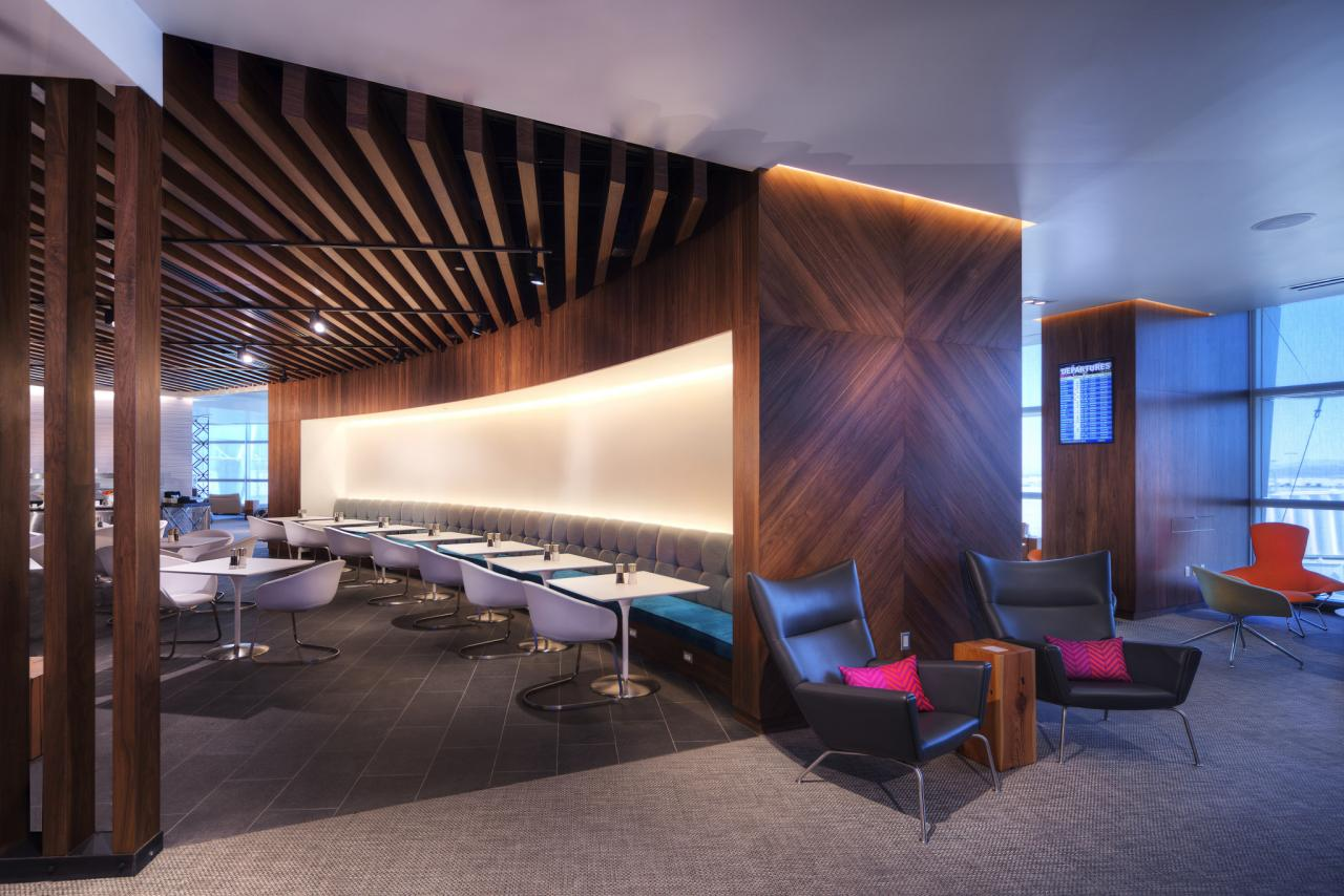 Interior design photography of the new Centurion Card Member lounge for American Express Card Members shot in Las Vegas Nevada at McCarran Internatinal Airport