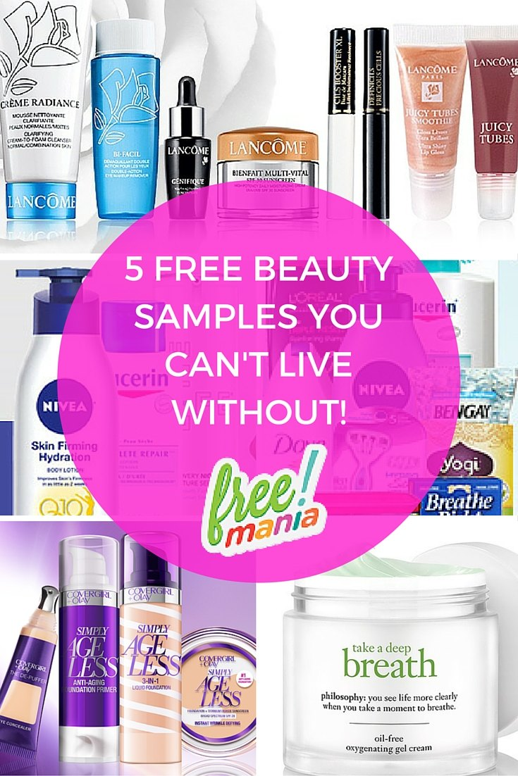 top beauty freebies and samples