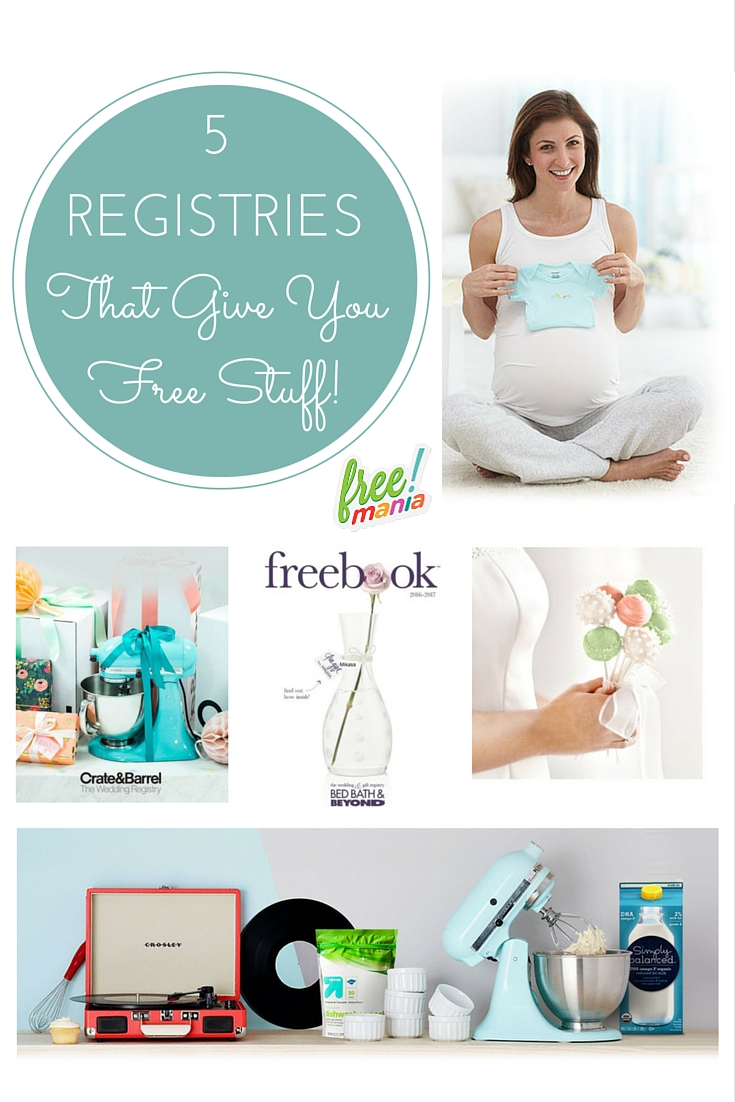 Have a major life event coming up? Get what you really want by creating one (or more!) of these gift registries and get free stuff just for signing up!